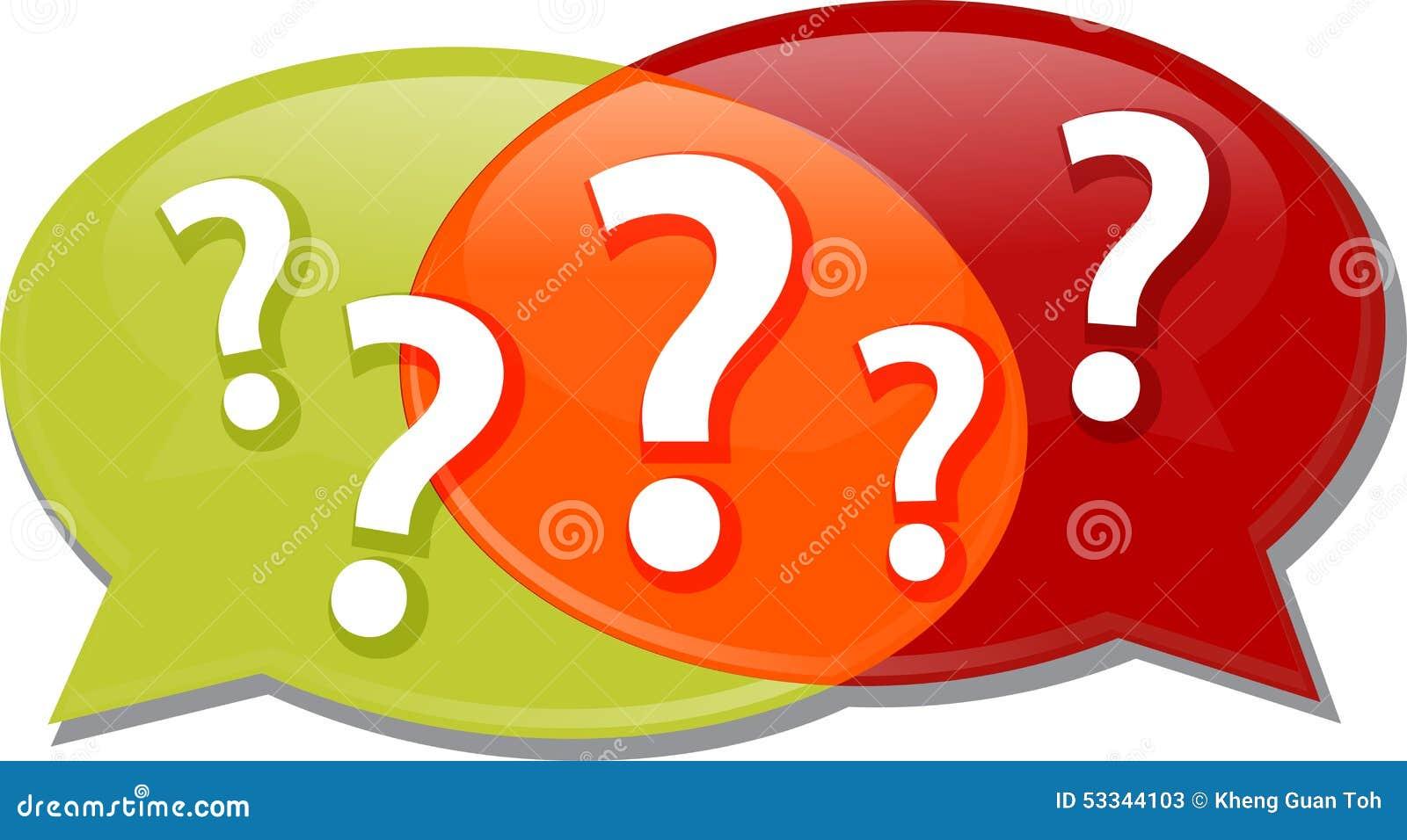 Questions Clipart Animation Questions dialog conversation