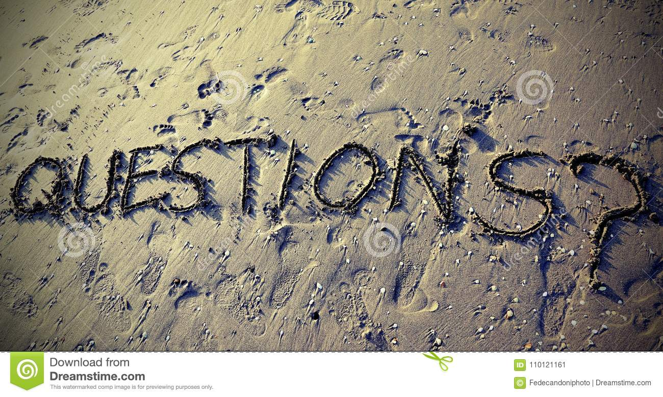 QUESTIONS with question mark written can be used for the end of