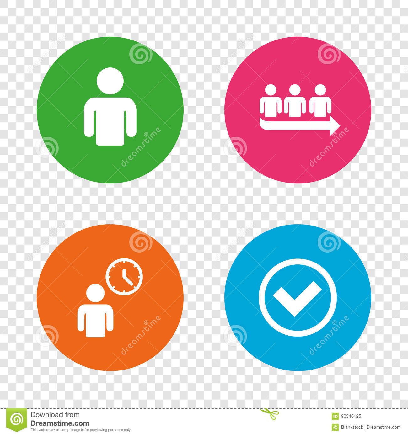 Queue icon person waiting sign check and time cartoon vector queue icon person waiting sign check and time cartoon vector cartoondealer 88152421 ccuart Images