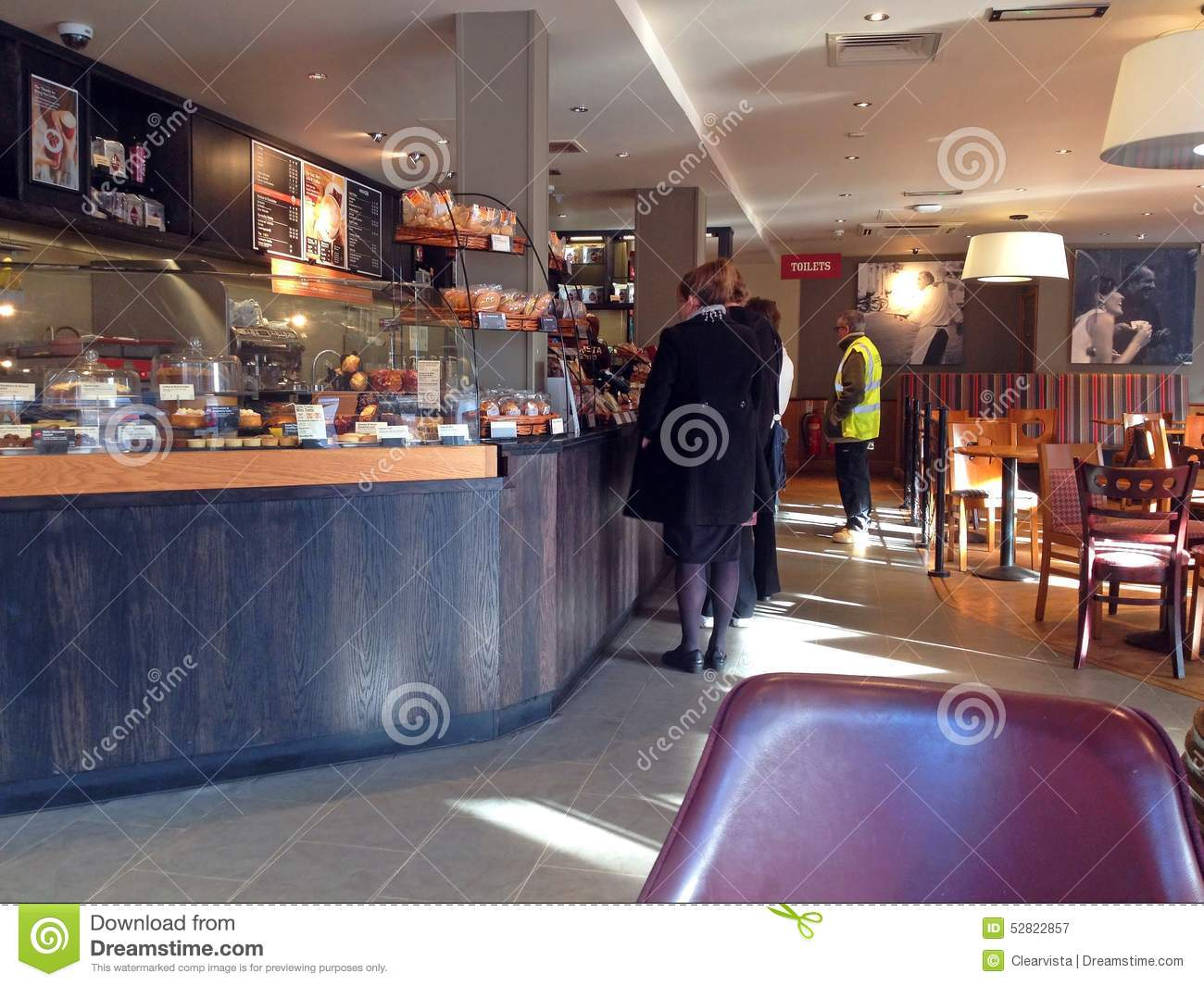 1ac5dce682a Queueing Inside A Coffee Shop. Coffeehouse. Editorial Photography ...
