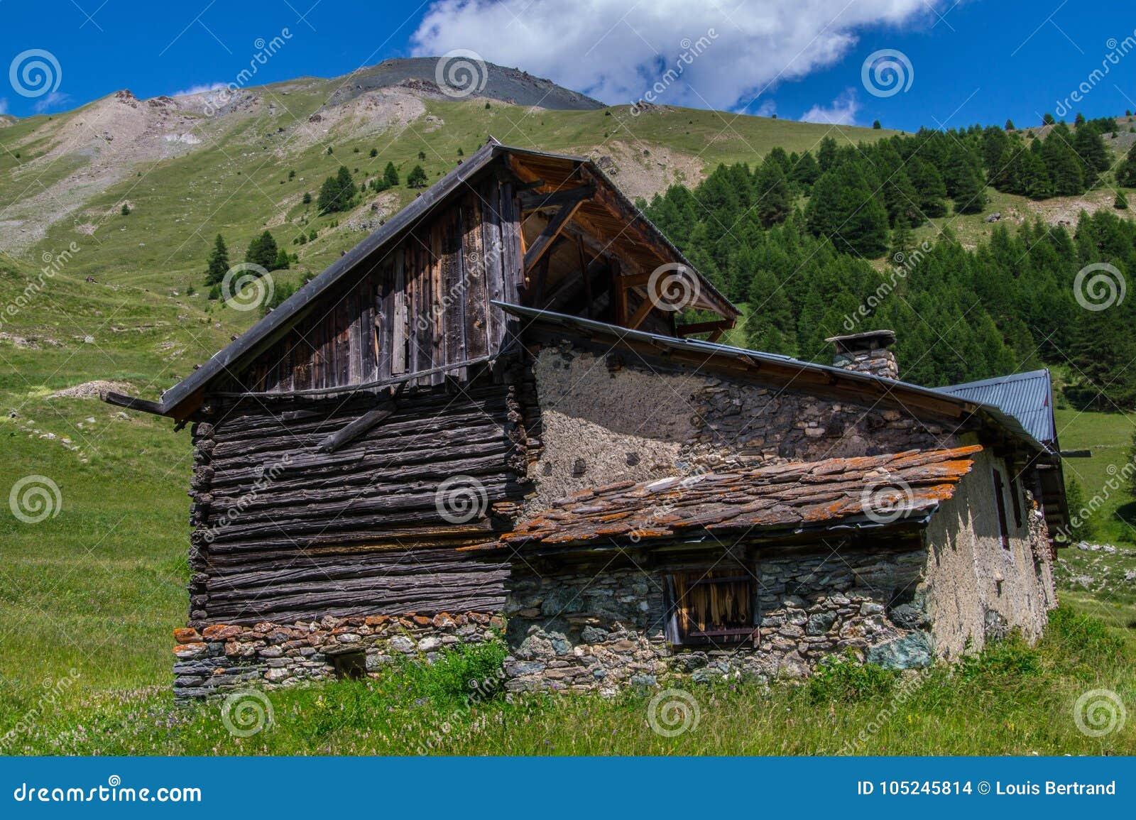 Queyras noir do ceillac de Bois em Hautes-Alpes em france