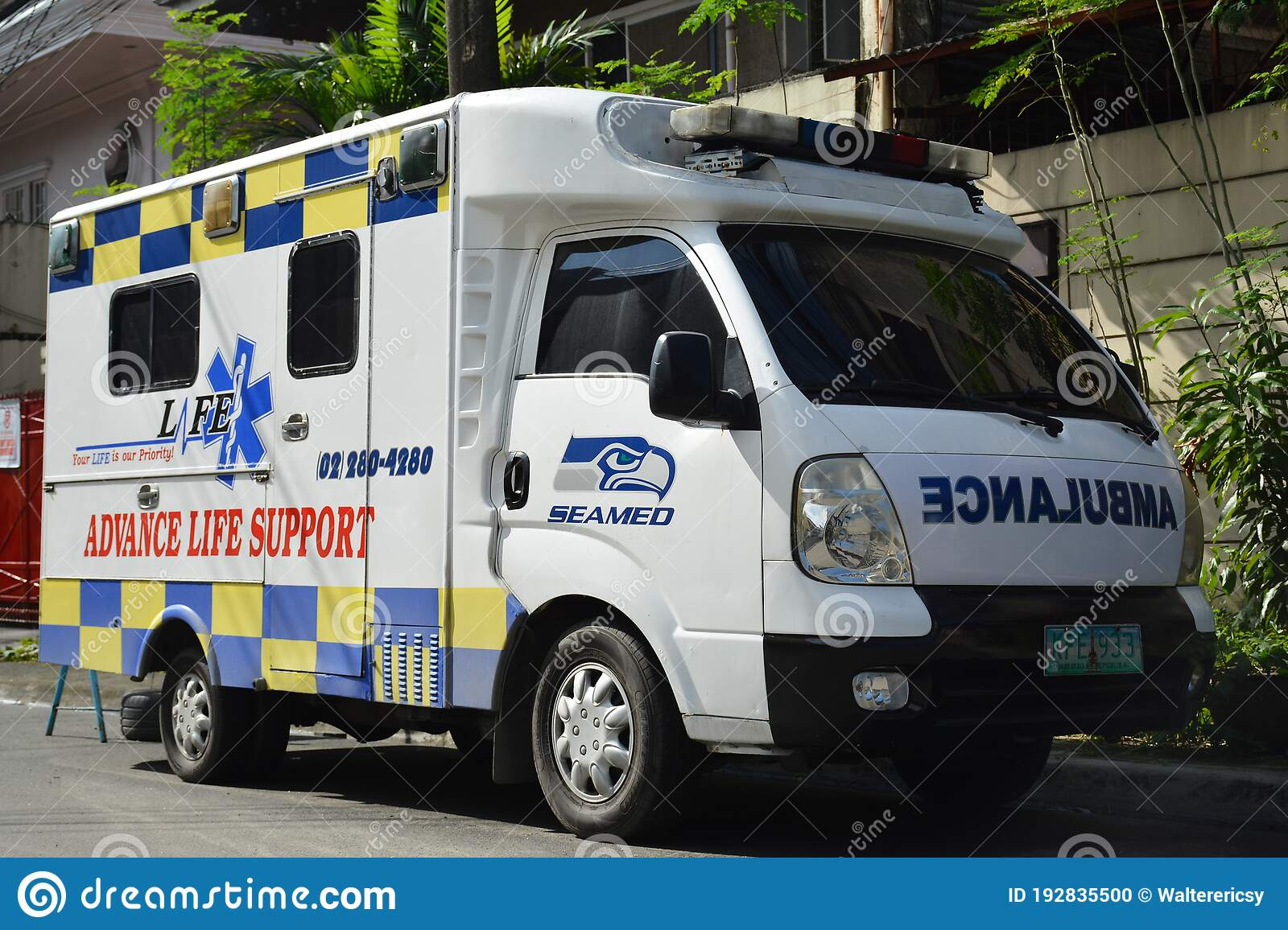 Seamed Ambulance Van In Quezon City Philippines Editorial Image Image Of Destination Vehicle 192835500