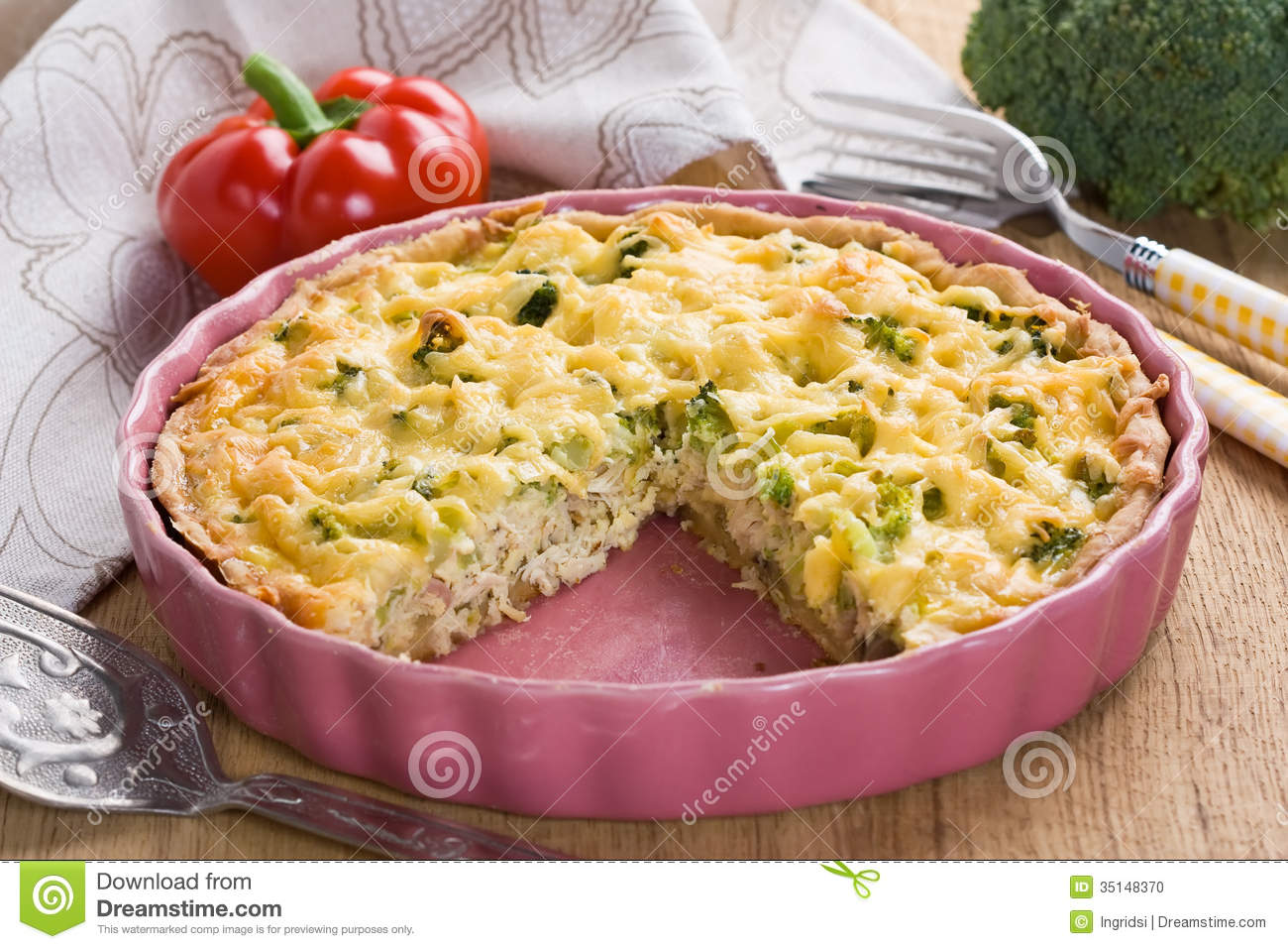 chicken and broccoli protein packed chicken and broccoli quiche recipe ...