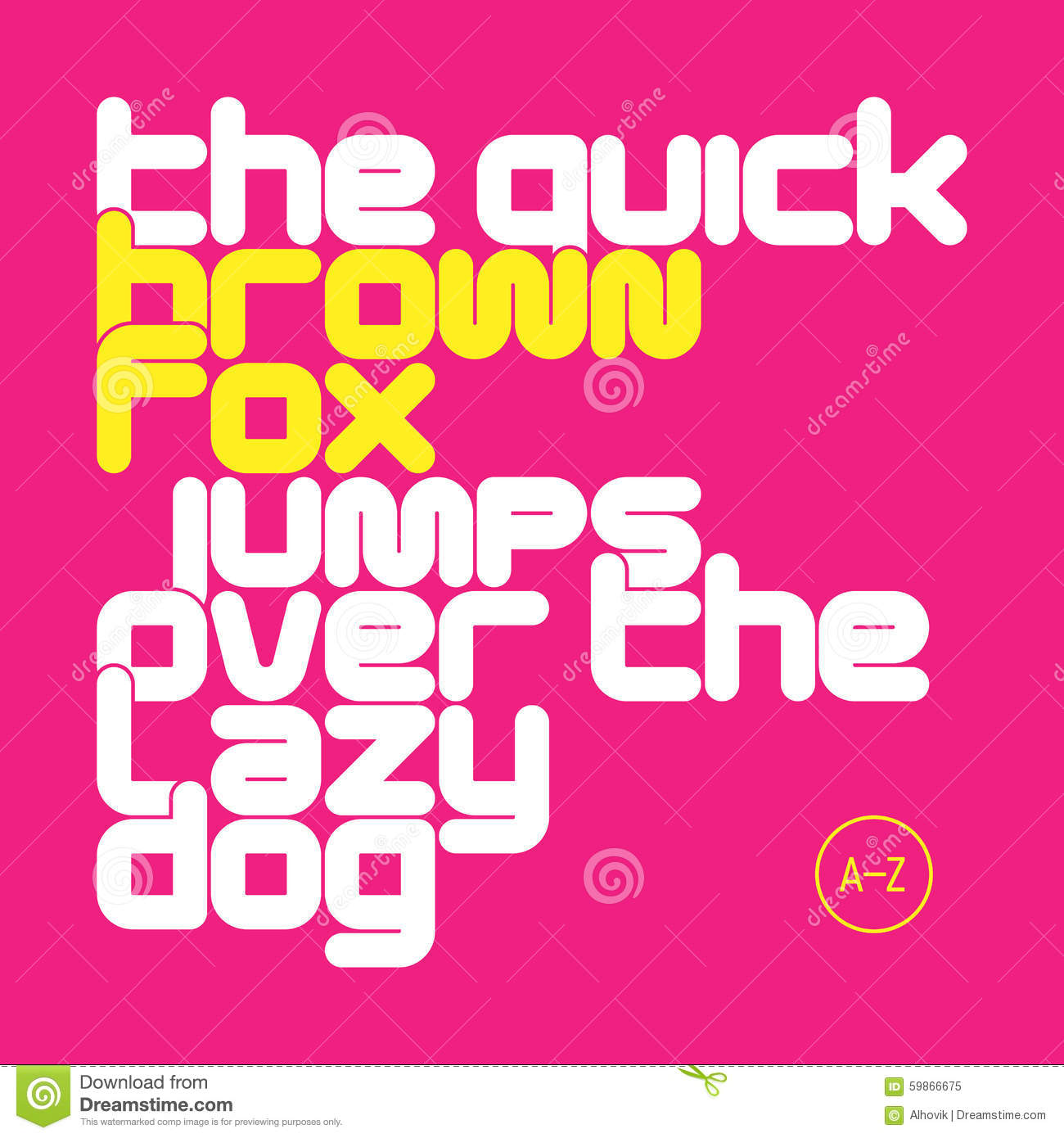The Quick Brown Fox Jumps Over The Lazy Dog Lowercase Letters Font