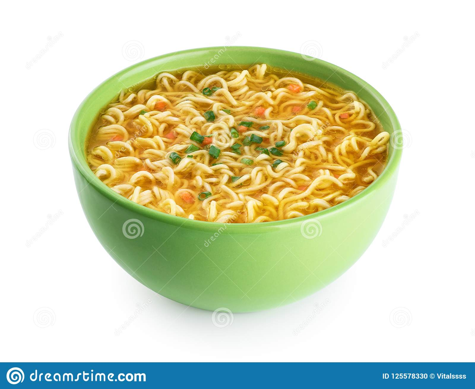 Quick Chicken Noodle Soup Bowl Of Instant Noodles Stock Photo Image Of Traditional Unhealthy 125578330