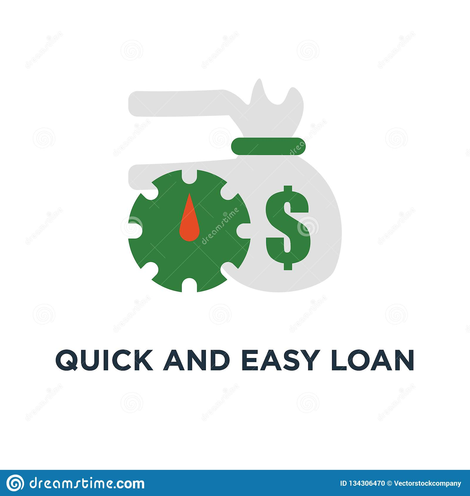 Quick And Easy Loan Icon. Fast Money Providence Concept