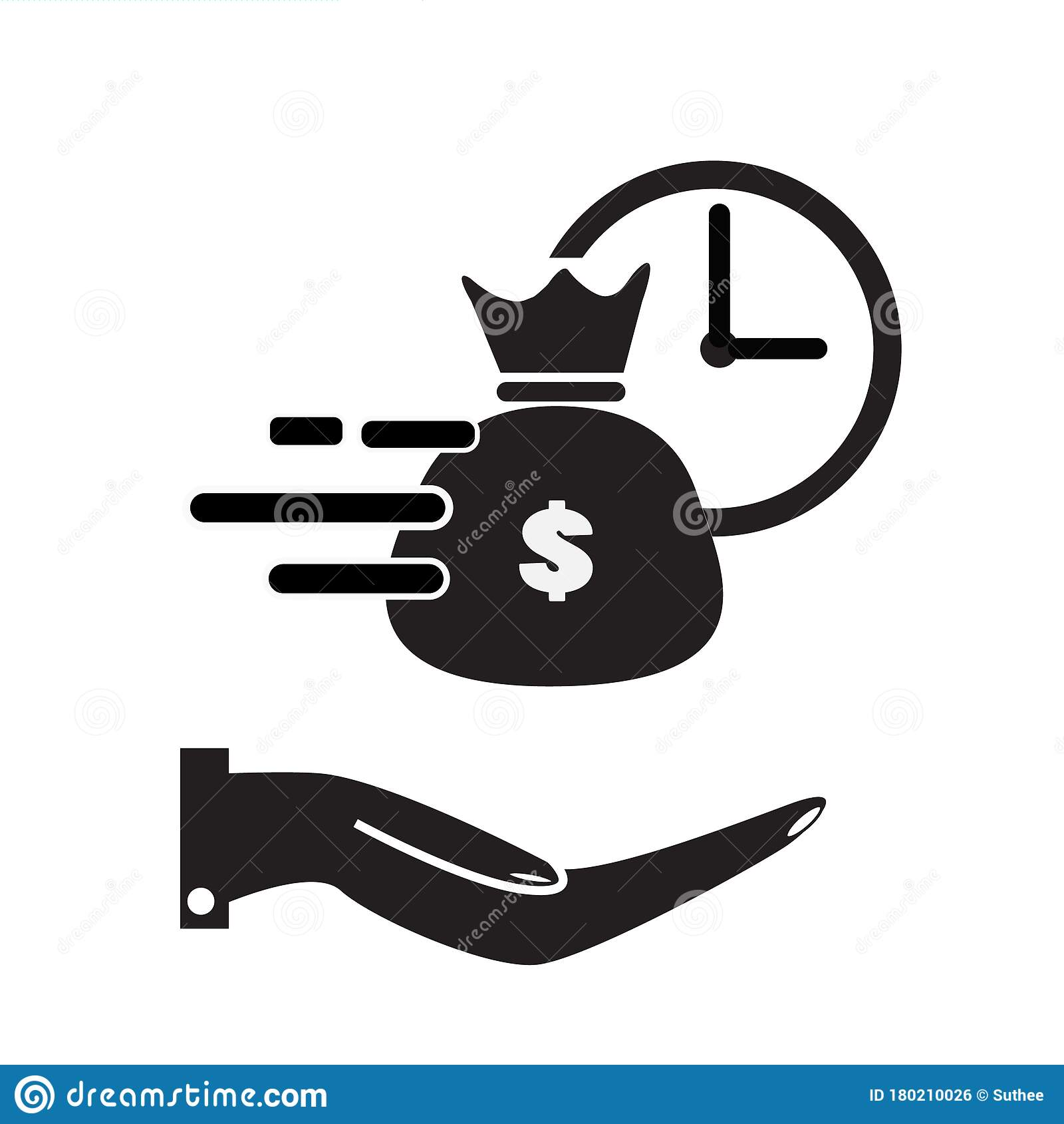 Quick And Easy Loan Icon On White Background. Flat Style ...