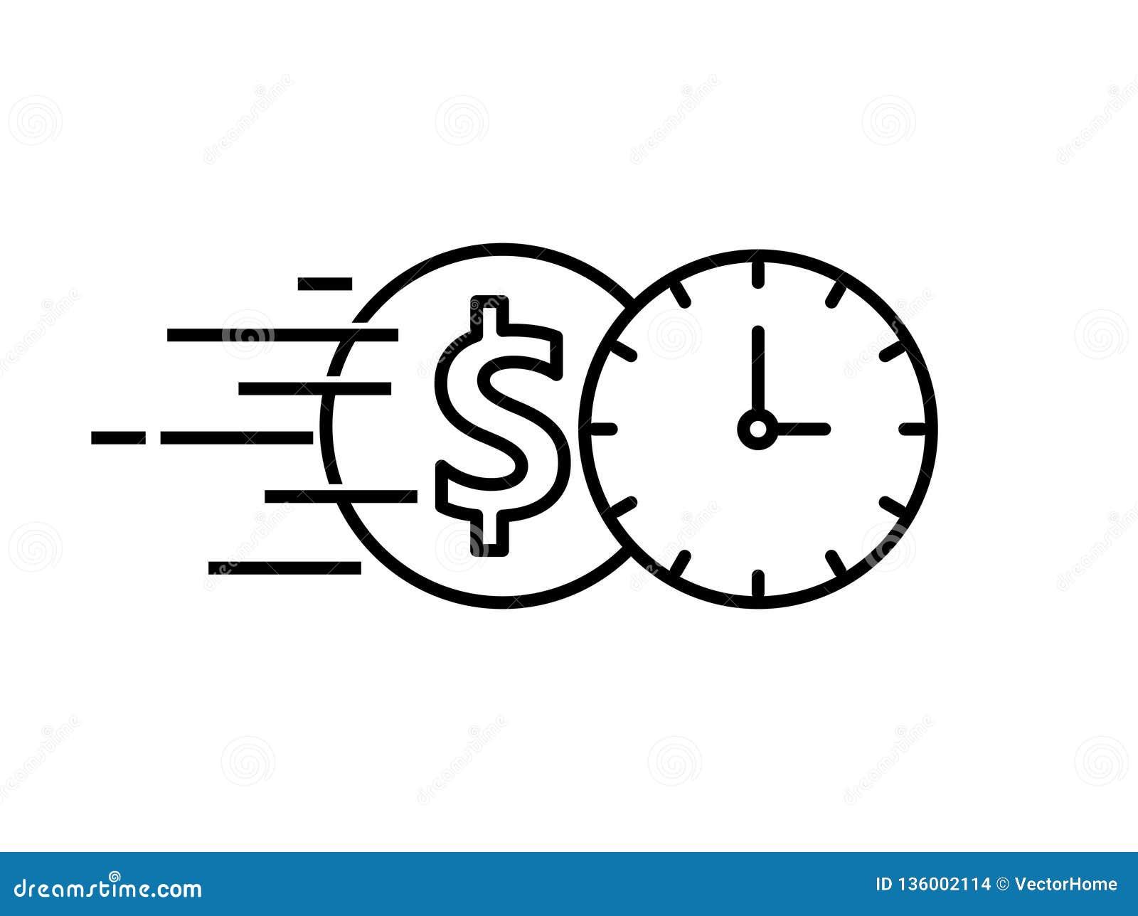 Quick Loan Icon, Vector Illustration Stock Vector ...