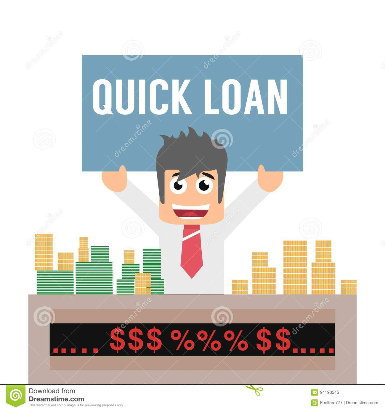 Quick Loan Offer Concept Stock Vector. Illustration Of