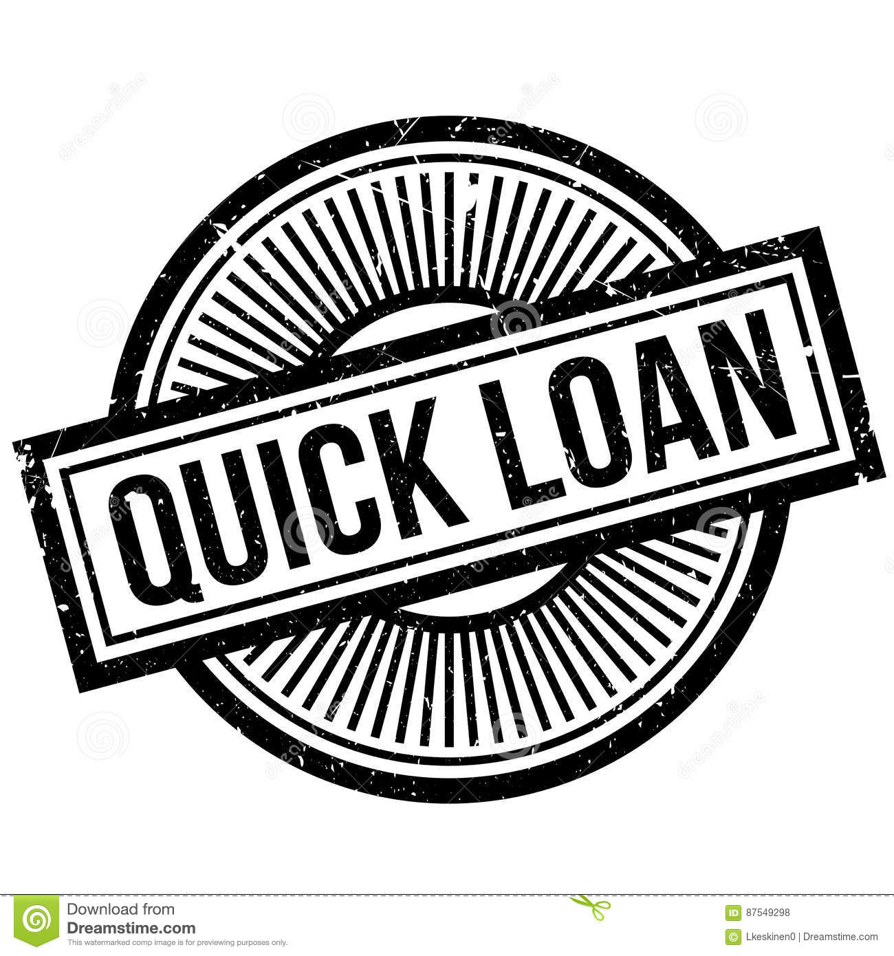 Quick Loan Rubber Stamp Stock Vector. Illustration Of