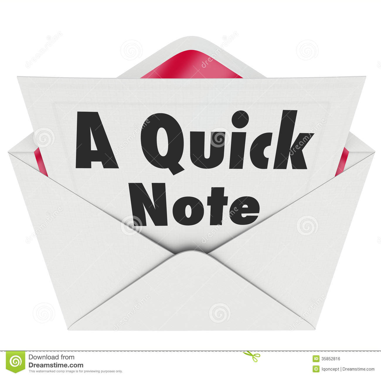 Updates News: Quick Note Words Message Letter Message News Update Stock