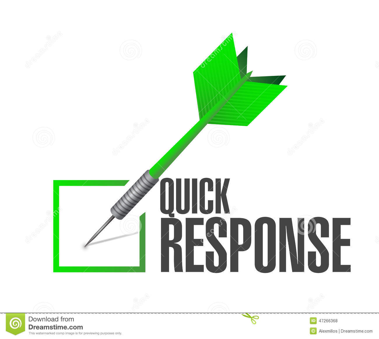 Quick Responsive Check Mark Illustration Stock