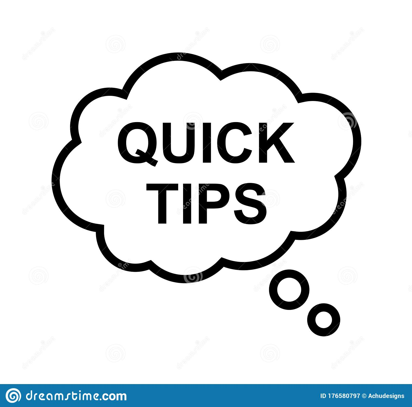 Quick tips stock vector. Illustration of background ...