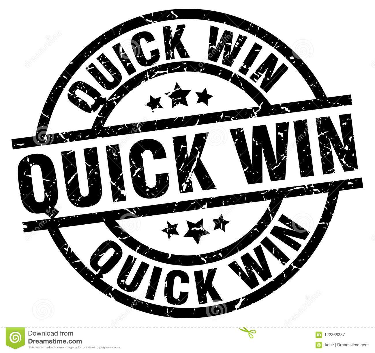 Quick Win Stamp Stock Vector. Illustration Of Rubber