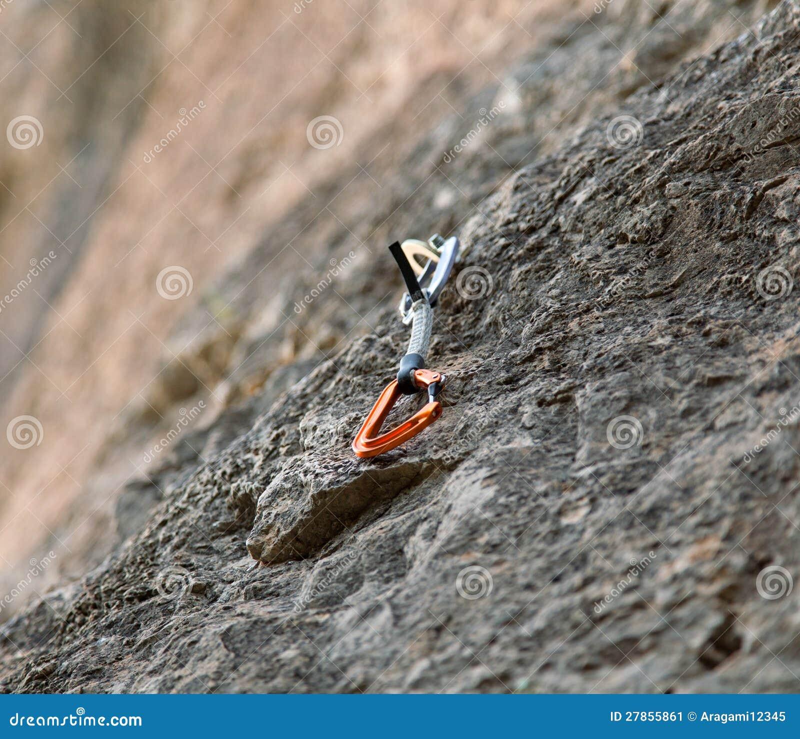 Quickdraw op de rotsmuur