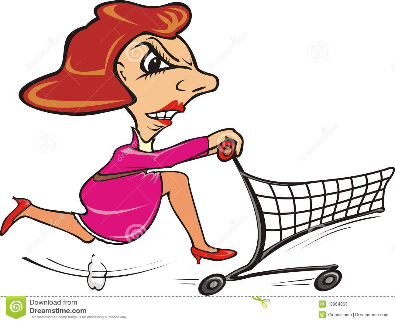 quickly shopper go shopping stock vector illustration of shopper