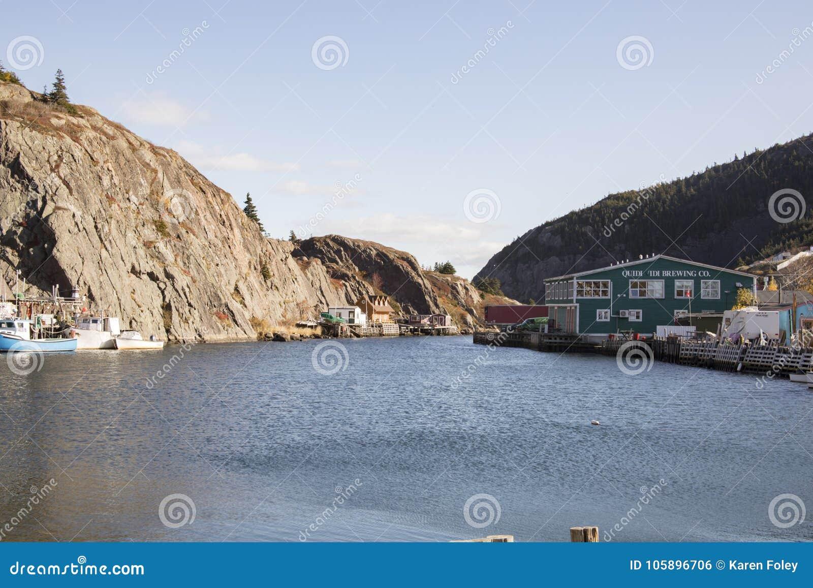 Quidi histórico Vidi Village, St Johns, Terranova, Canadá