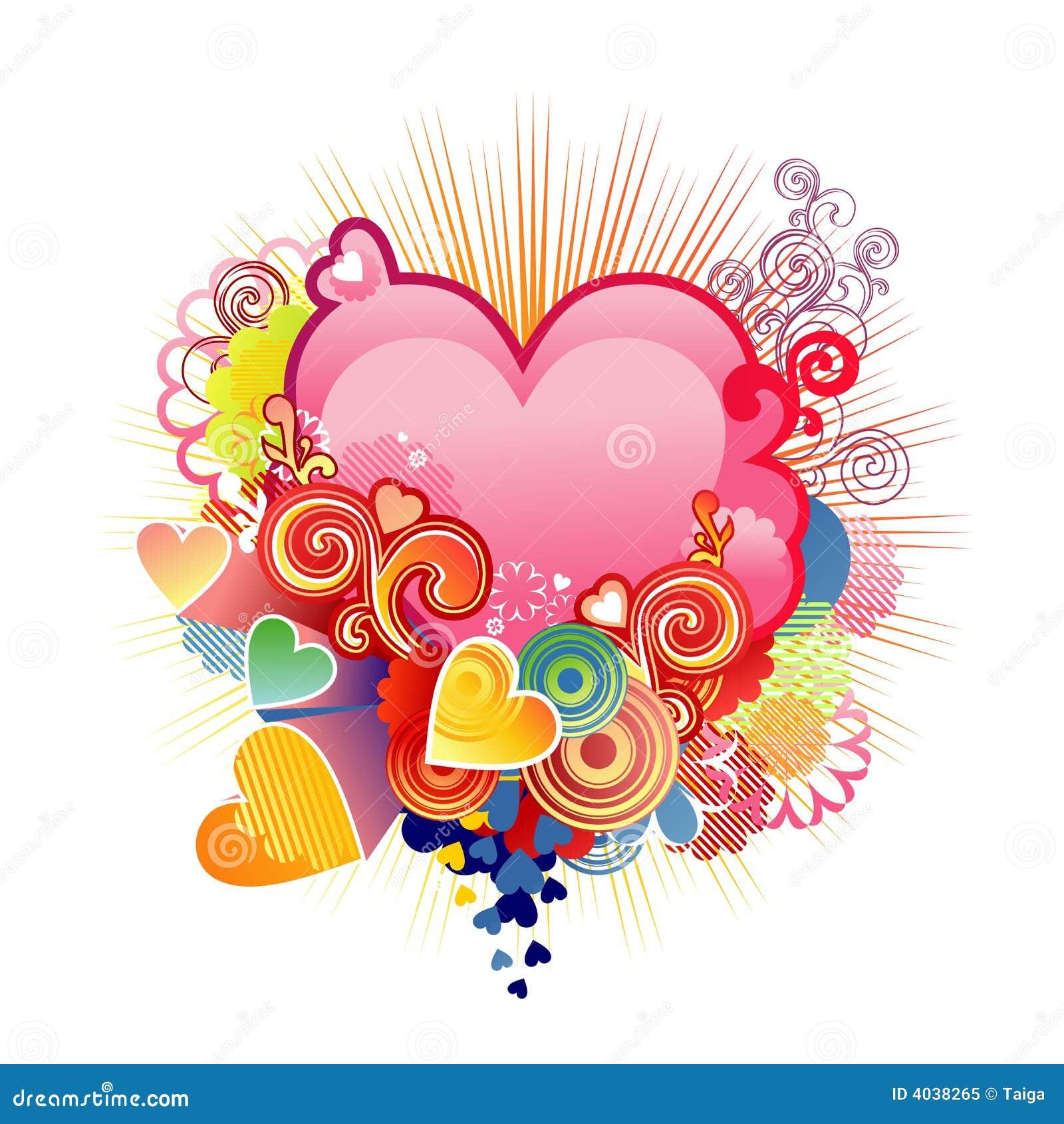 Quiera el corazón/la tarjeta del día de San Valentín o la boda/el vector