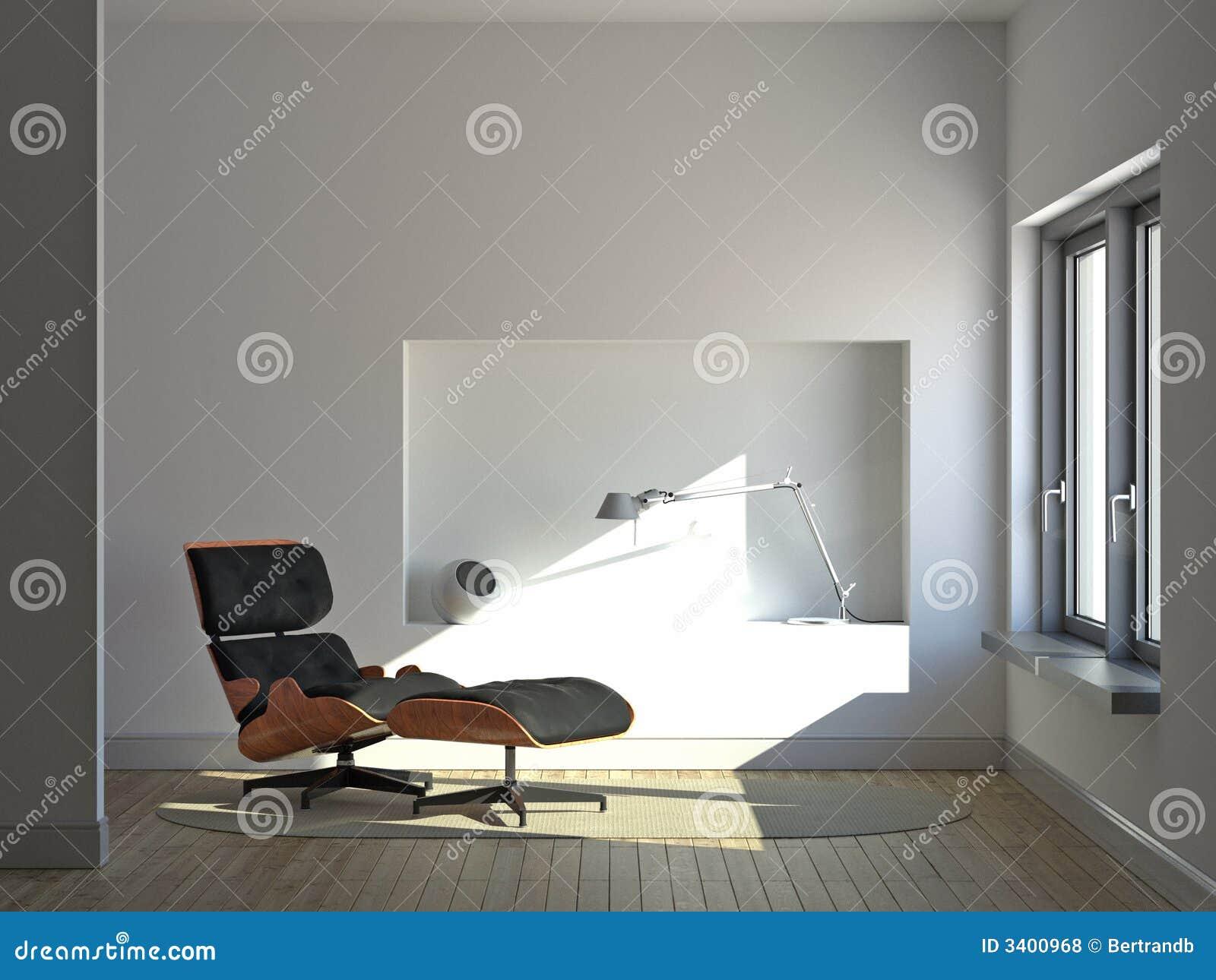 Quiet minimalist interior
