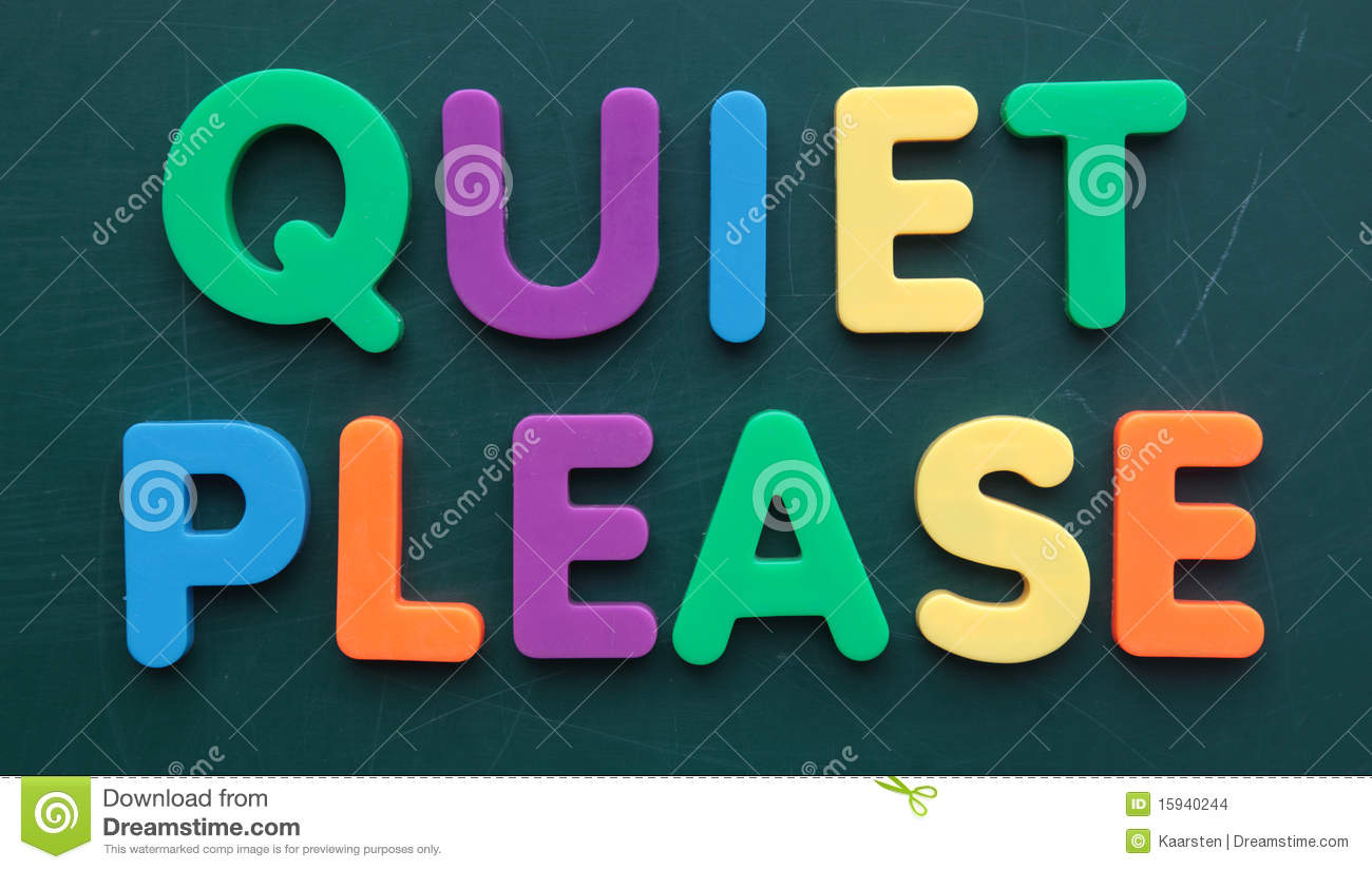 Quiet Please Sign Quiet please Stock Images