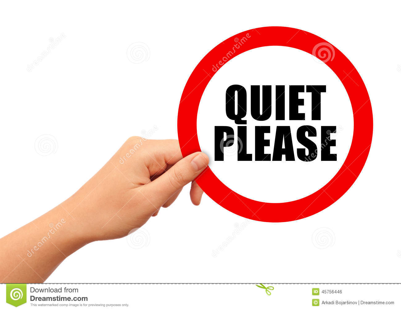 Quiet Please Sign Quiet please sign