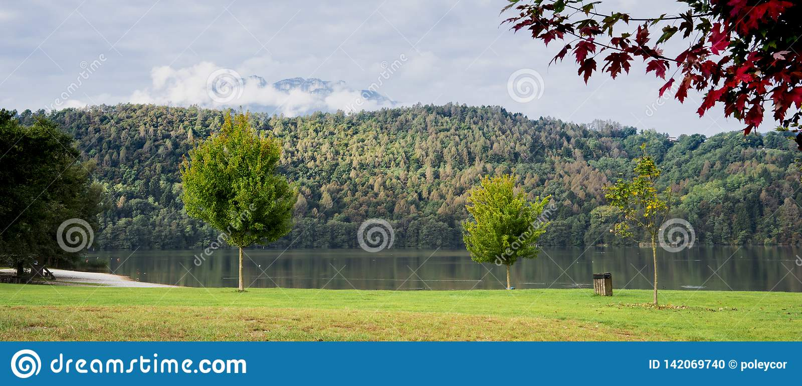 Banner of Lake Levico Termen, Italy