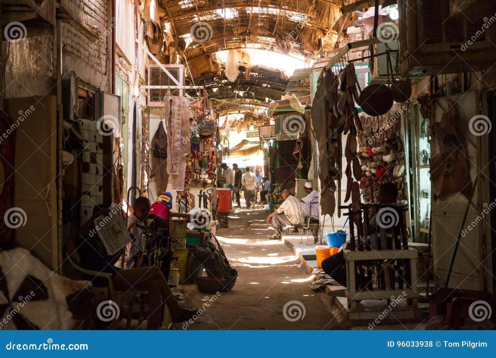 Quieter boczna ulica w Omdurman Souq Khartoum,
