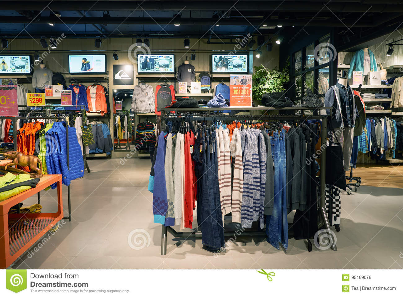 Quiksilver editorial photo  Image of shop, boutique, store