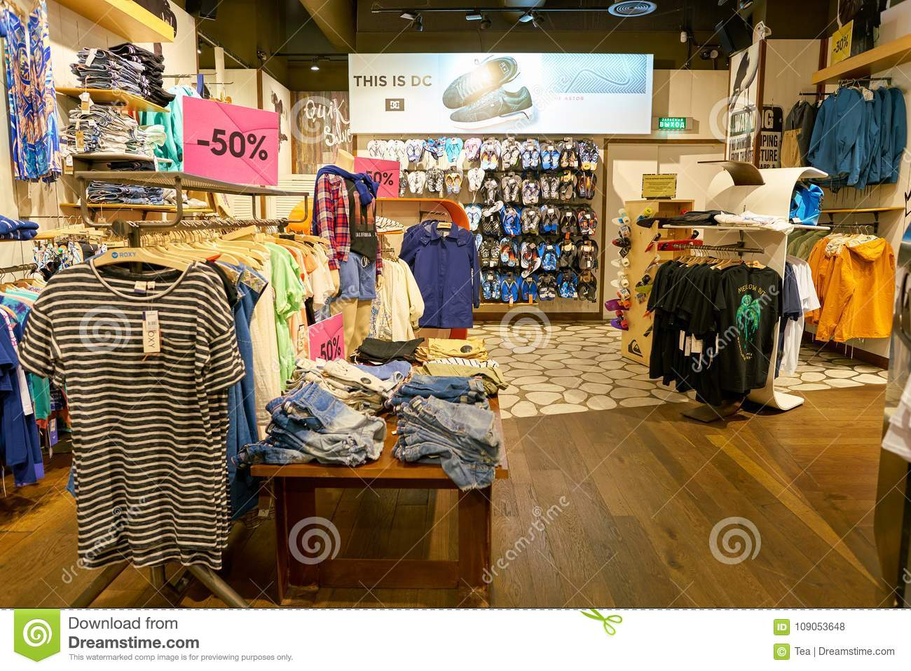 Quiksilver store editorial stock photo  Image of shopping