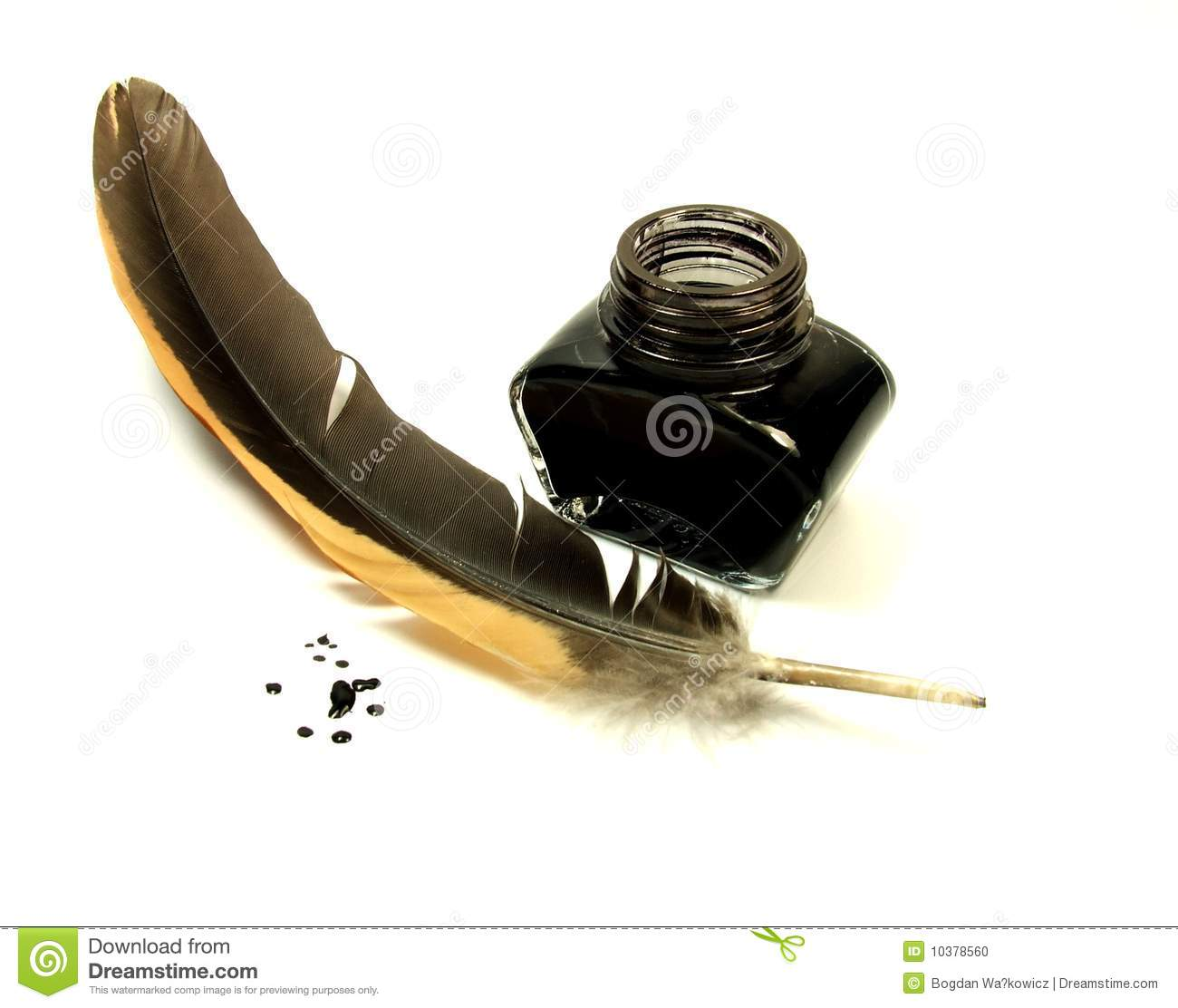 Quill And Ink Stock Photo - Image: 10378560