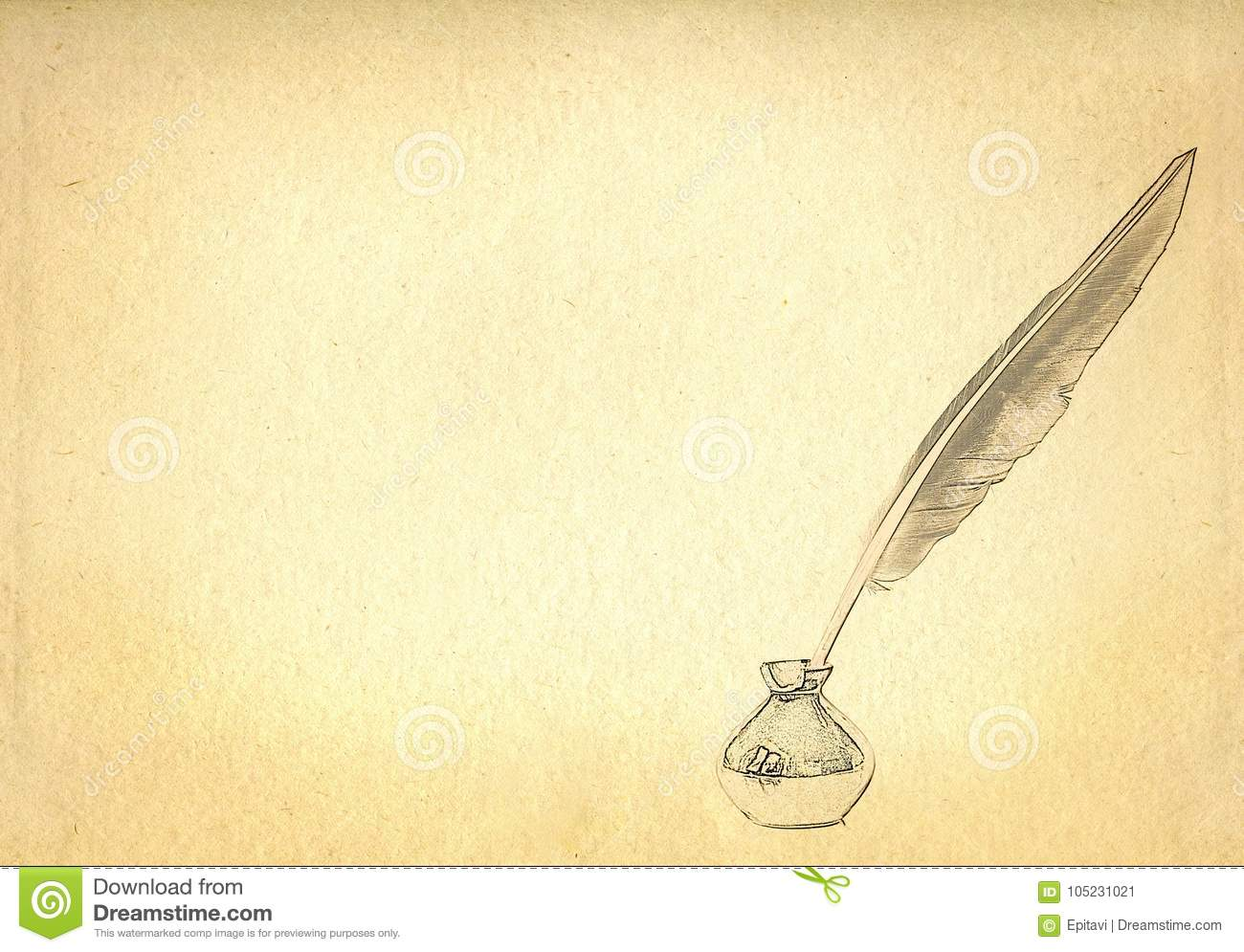 Quill in the inkwell stock illustration. Illustration of ...Quill And Inkwell Image