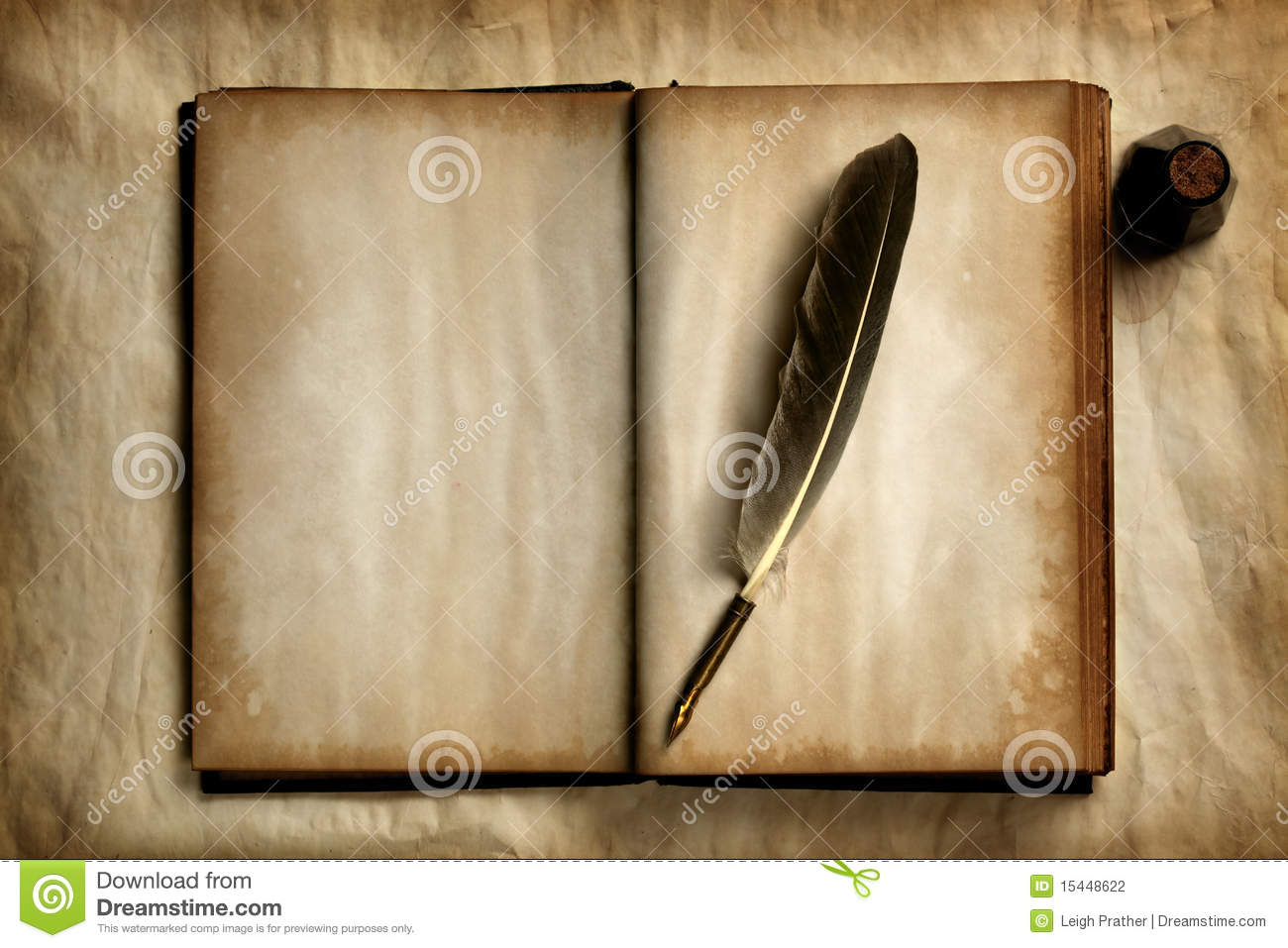 quill on old book stock photo  image of ancient  parchment