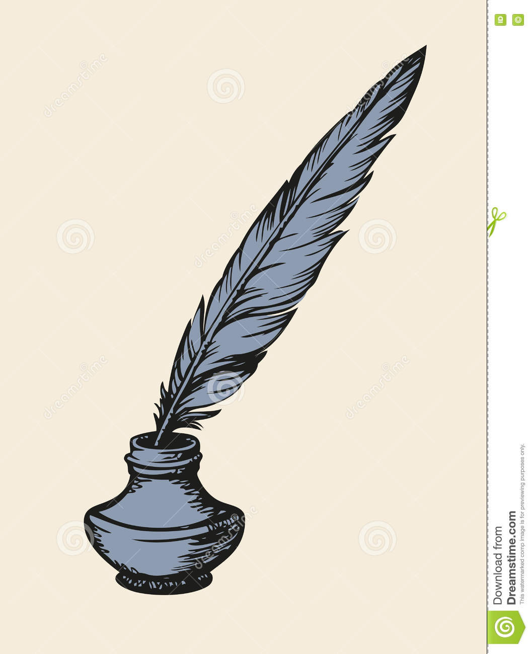 Old quill pen