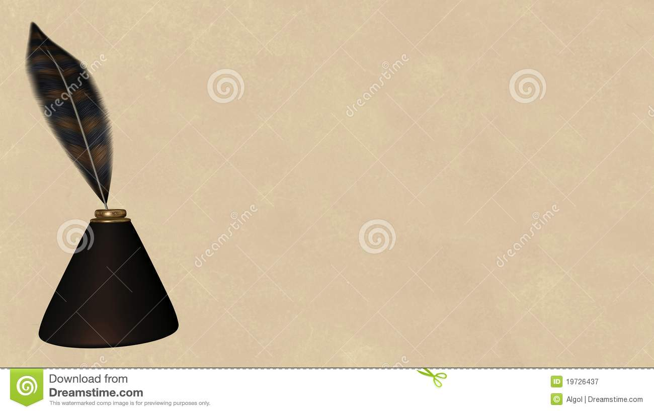 Quill Pen And Parchment Background - 2 Stock Illustration ...