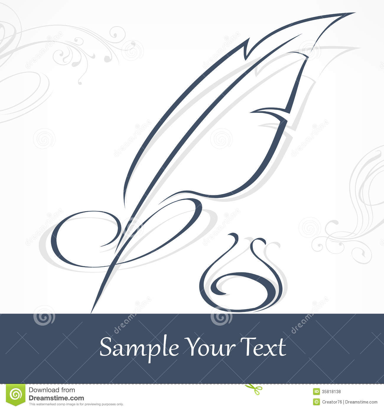 quill pen and text royalty free stock photos image 35818138