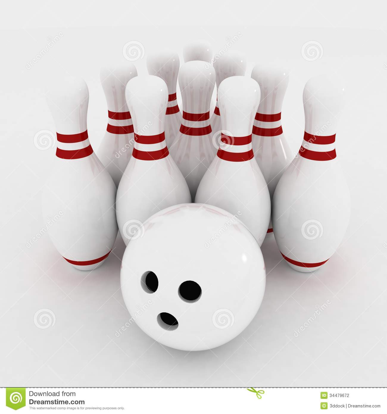 Quille et boule de bowling photographie stock image for Decoration quille de bowling