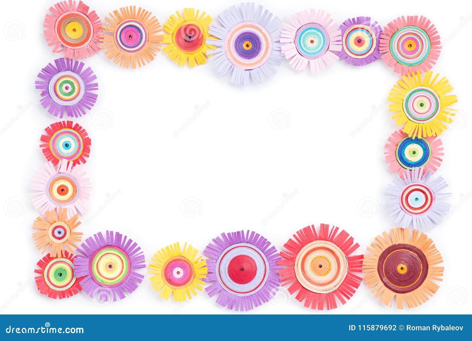 Quilling avec les fleurs colorées
