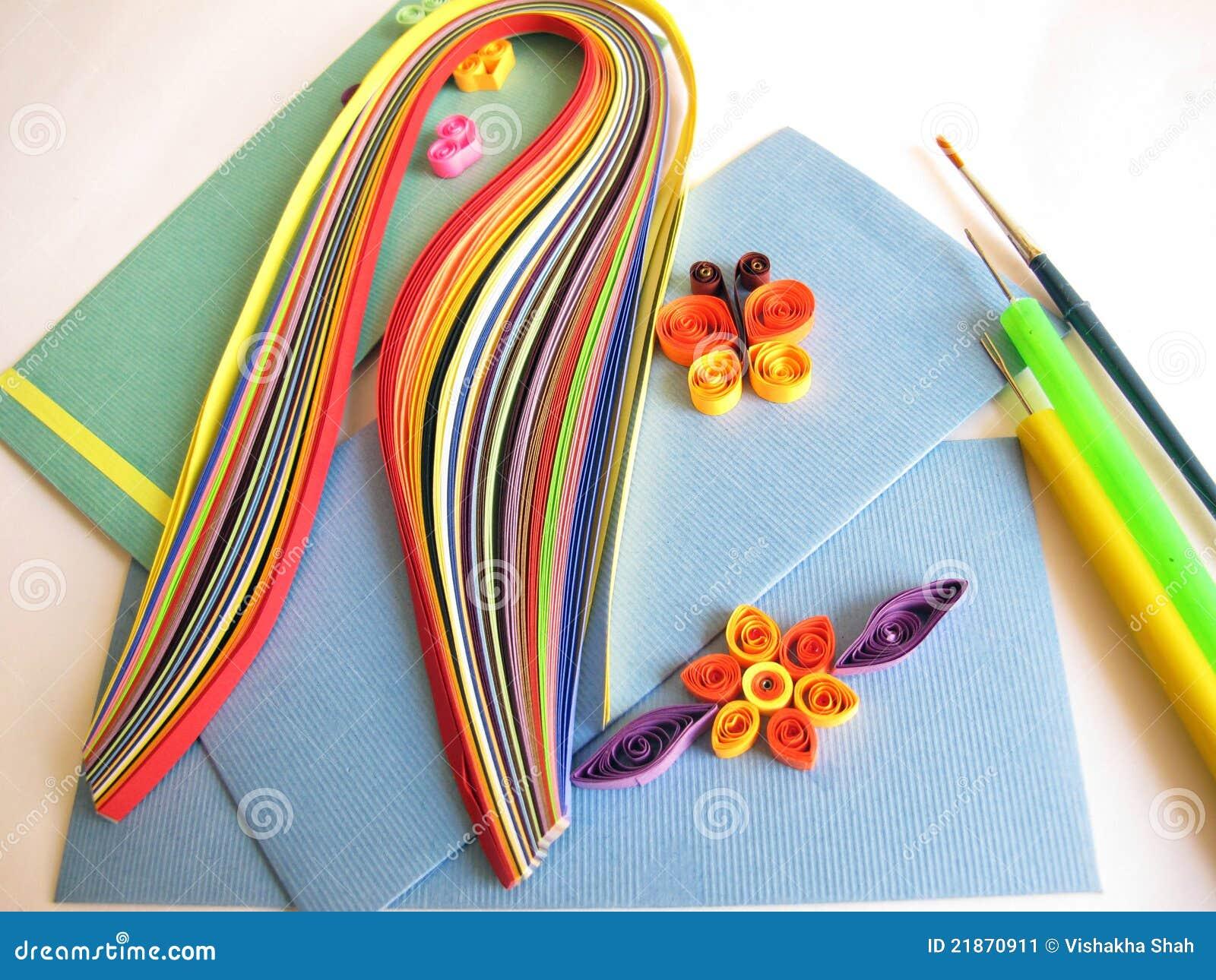 quilling de papier image stock image du papillon d coration 21870911. Black Bedroom Furniture Sets. Home Design Ideas