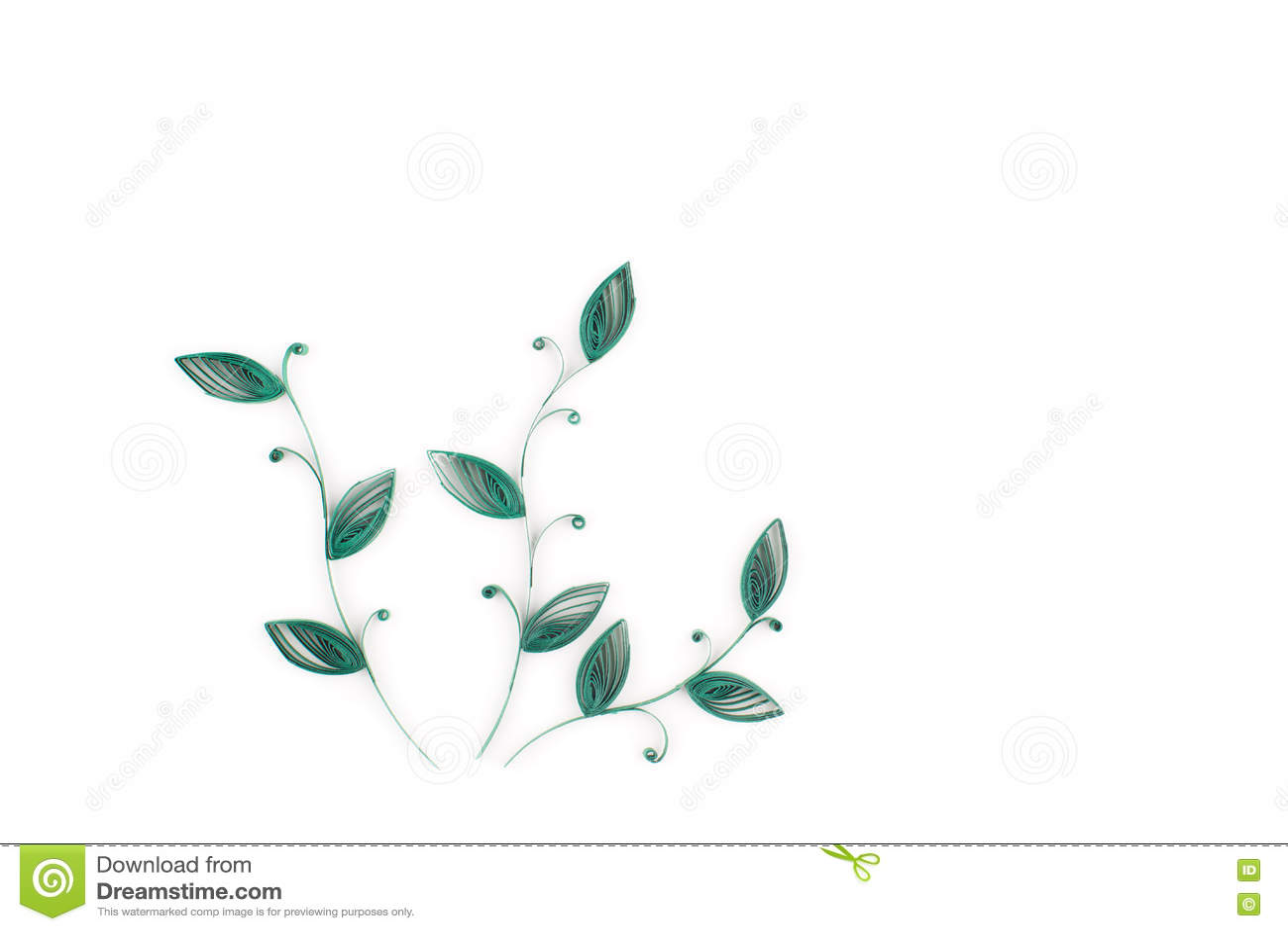 Quilling de papier, fleurs de papier colorées