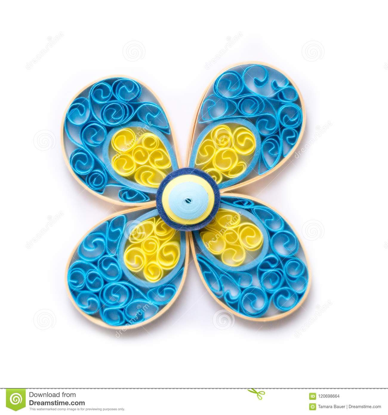 Quilling Flower With Paper Coils Stock Photo Image Of Decorate