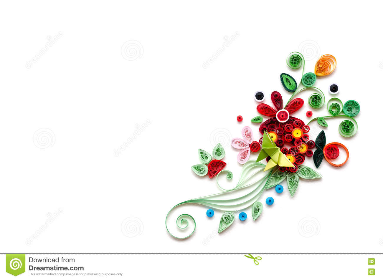 Quilling flower paper on white background stock image image of quilling flower paper on white background mightylinksfo