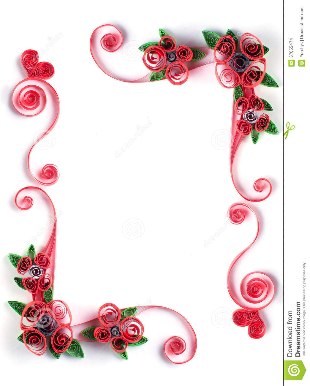 paper quilling flower frames the image kid has it. Black Bedroom Furniture Sets. Home Design Ideas