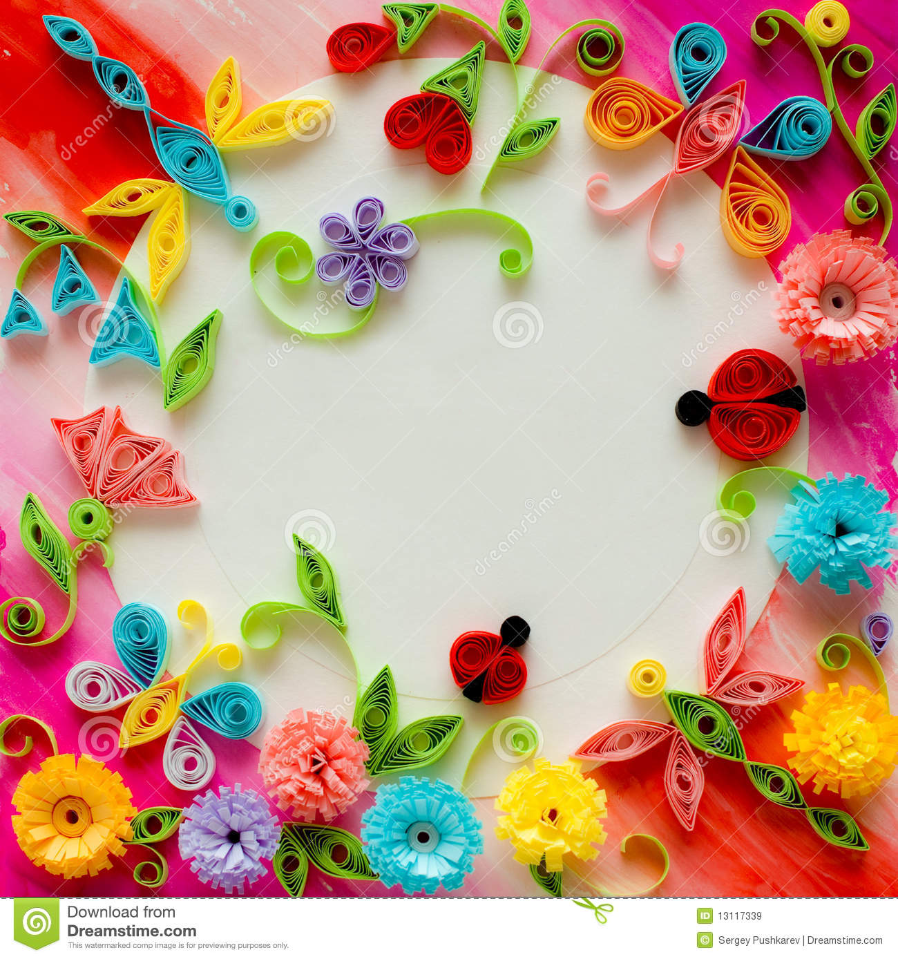 Quilling Greeting Card Blank Template Royalty Free Images – Free Template Birthday Card