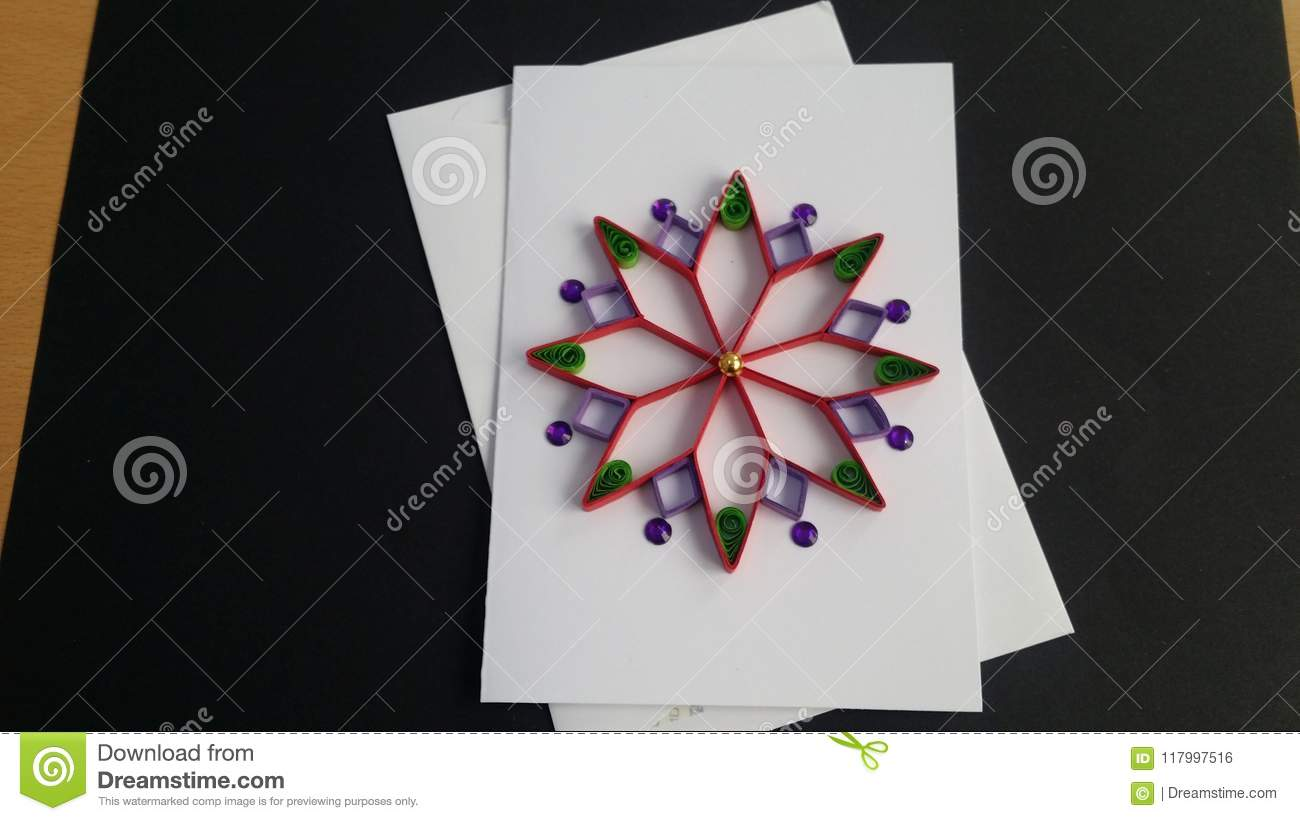 Astounding Quilling Greeting Cards Paper Art Stock Photo Image Of Ramadan Personalised Birthday Cards Cominlily Jamesorg