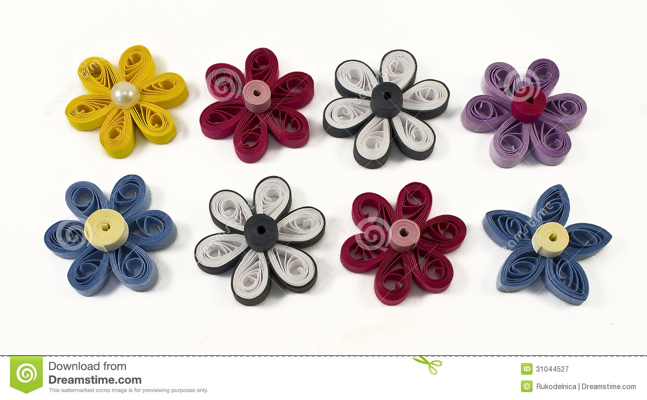 Fiori Quilling.Quilling Multicolored Flowers Stock Image Image Of Handmade