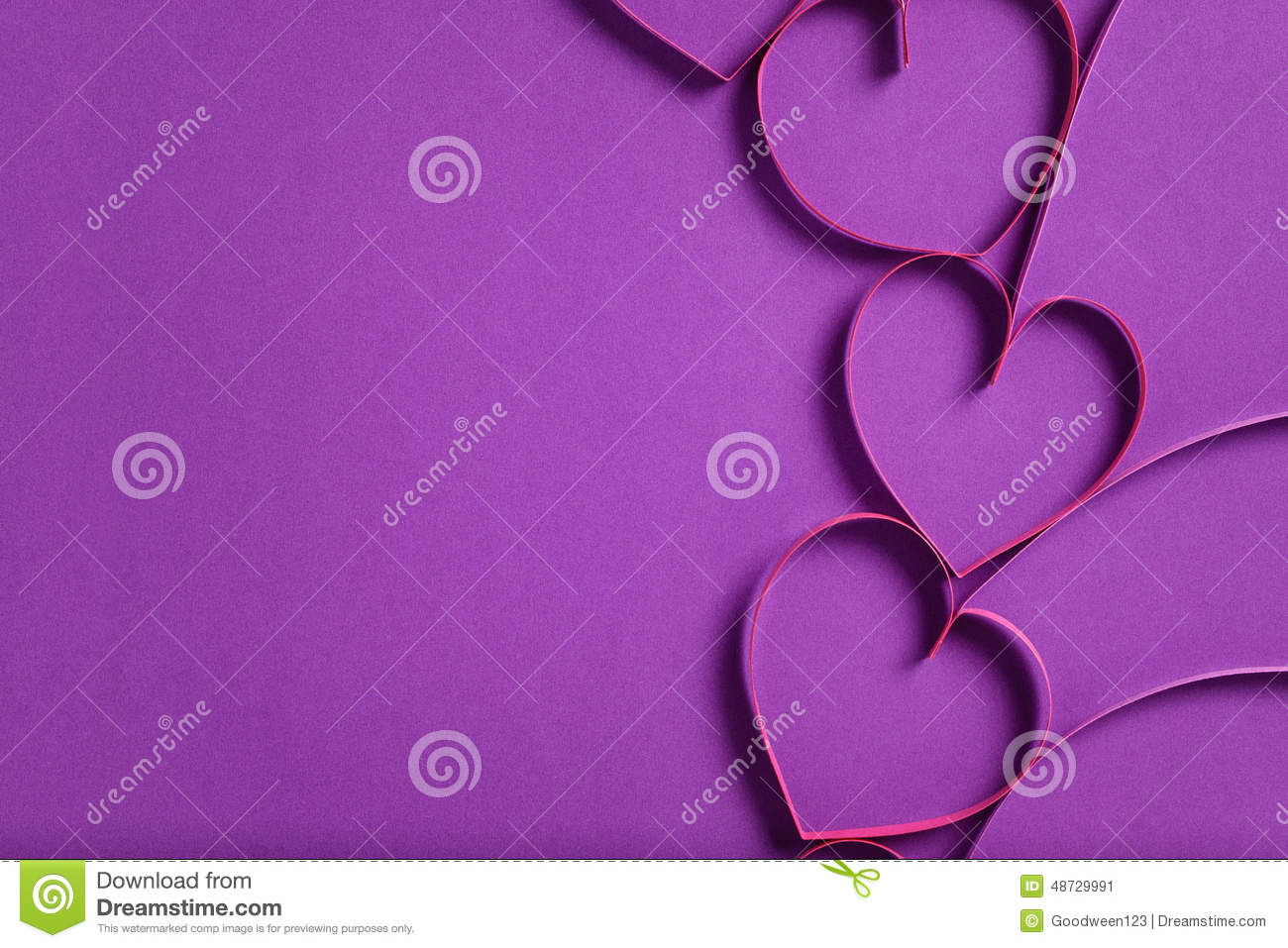 Quilling Paper Hearts Like Flowers Stock Image Image Of Holiday