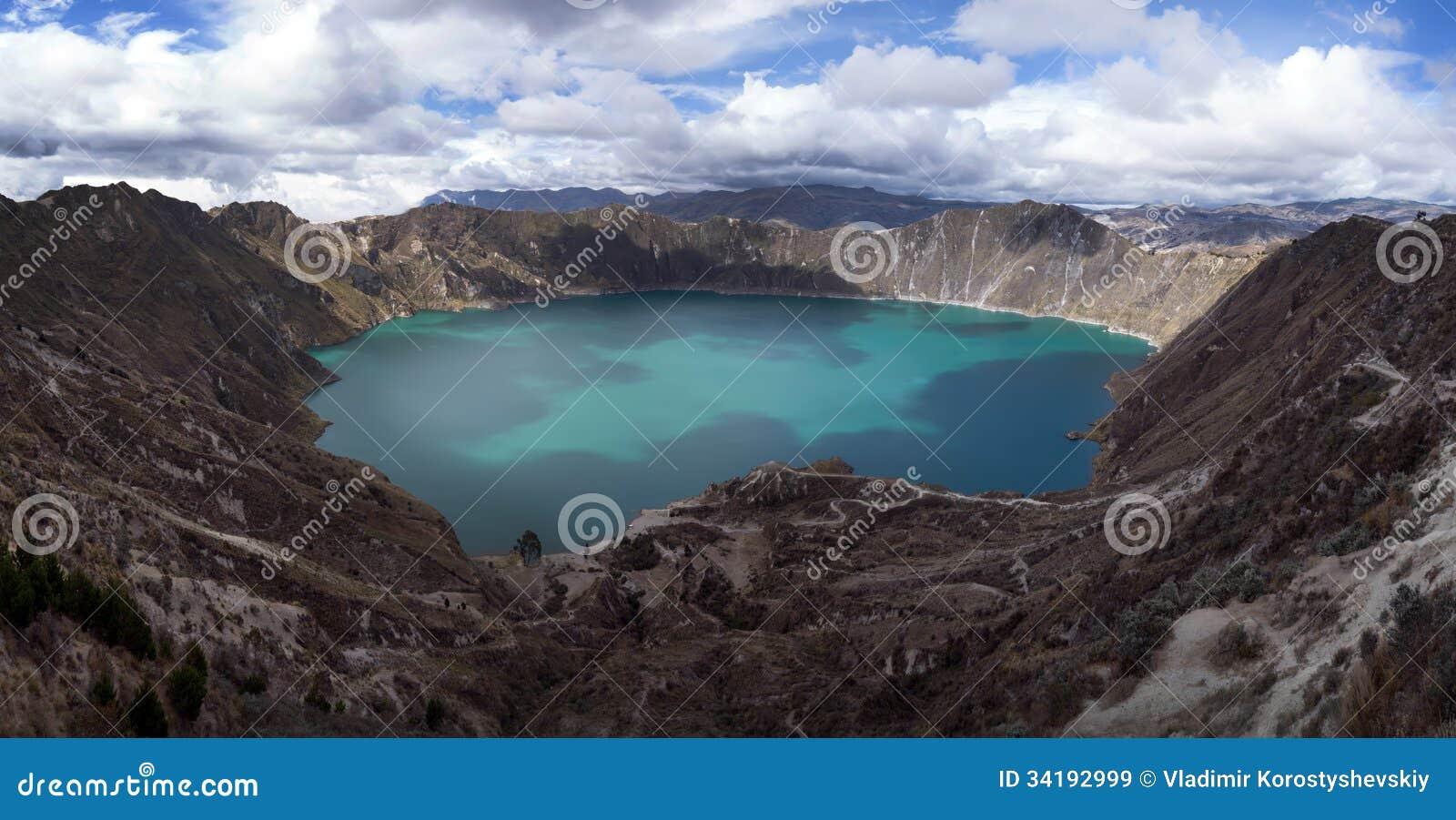 Quilotoa Caldera Stock Image  Image Of Mountains  View