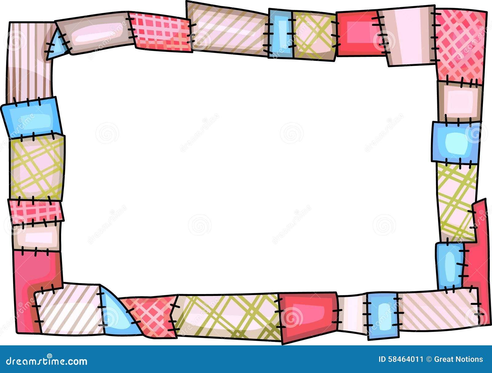 QUILT BORDER stock illustration. Illustration of hobby - 58464011 : quilt border - Adamdwight.com