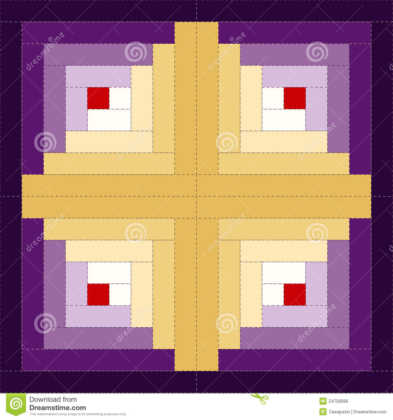 Barn Raising Quilt Pattern Free Knitting : Quilt, Log Cabin Pattern, Barn Raising Design Royalty Free Stock Image - Image: 24756066