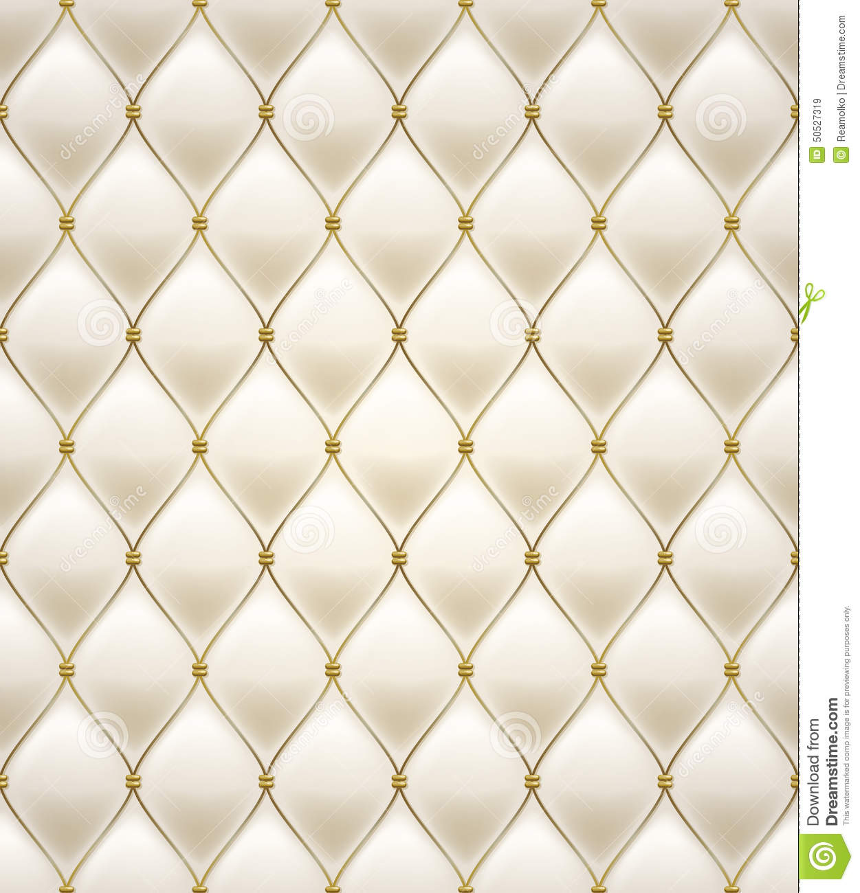 Quilted Seamless Pattern Cream Color Stock Vector